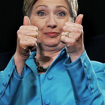 Weiter und weiter und weiter: Hillary Clinton gibt nicht auf