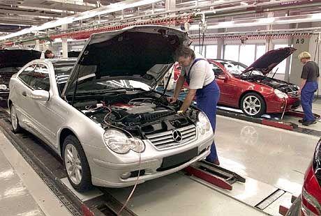 Fertigung der Mercedes-Benz C-Klasse in Sindelfingen