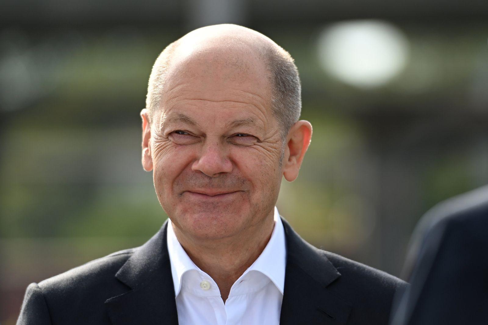 Wahlkampf SPD - Scholz in Duisburg