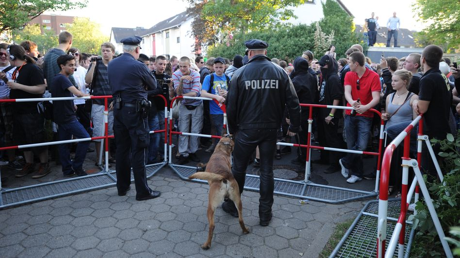The party is over: More than 1,500 uninvited guests flock to a girl's 16th birthday bash in Hamburg after she made it public on Facebook.