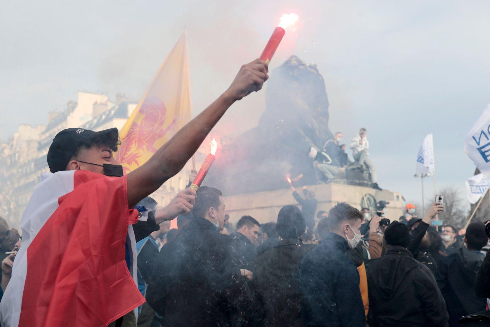 Protest der «Génération Identitaire» in Frankreich