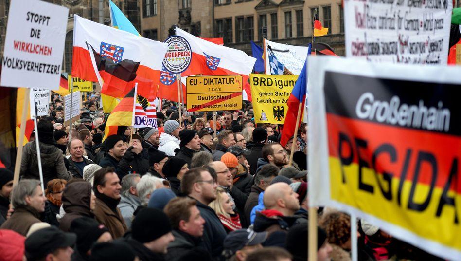 """Pegida-Demonstranten in Dresden: """"Was vielleicht mein Nachbar denkt, aber nicht ausspricht"""""""