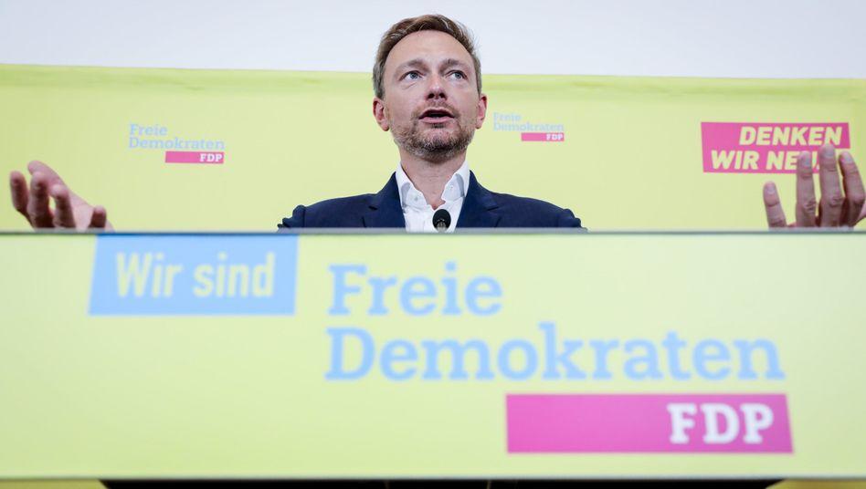 Der FDP-Spitzenkandidat Christian Lindner