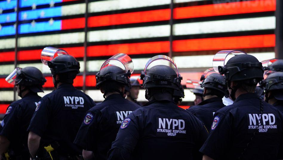 Polizisten in New York am vergangenen Tag