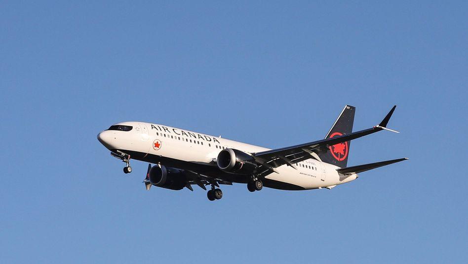 Boeing 737 Max 8 der Fluggesellschaft Air Canada (Symbolbild)