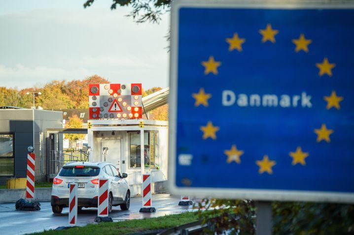 Grenzübergang in der Nähe von Flensburg nach Dänemark