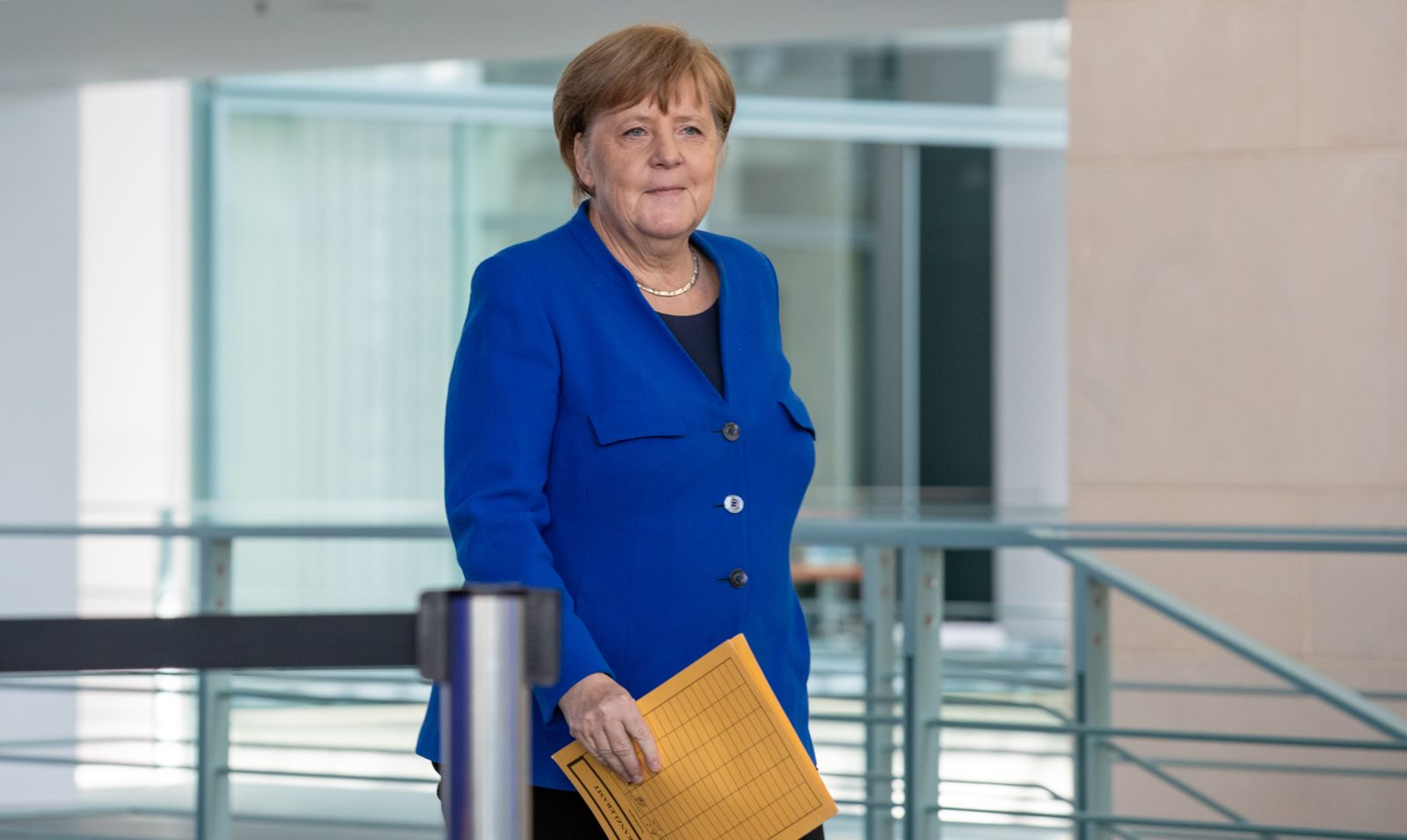 Merkel Holds Press Conference Following Crisis Cabinet Meeting