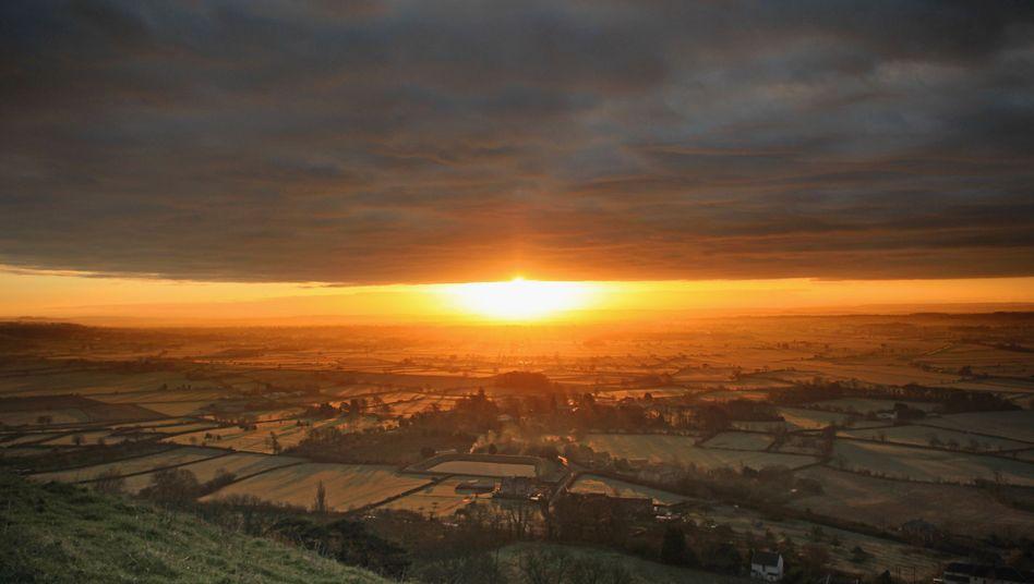 Sonnenaufgang in England: Fortschreitende Erwärmung