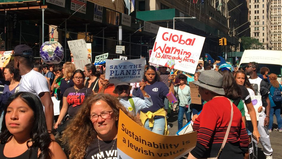 """Globaler Klimastreik am 20. September 2020, hier in New York: """"Trumps Regierungszeit war für den Klimaschutz kein Fortschritt, es war aber auch kein Desaster"""""""