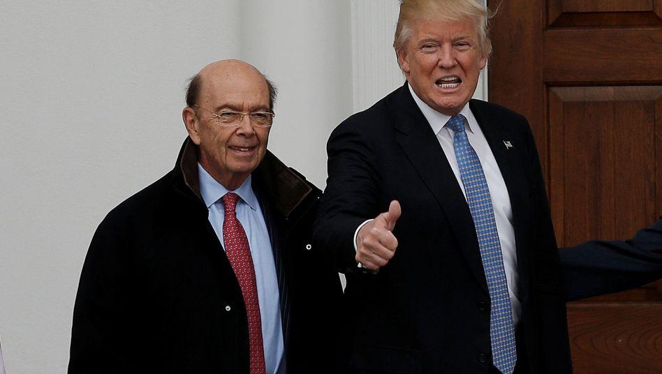 US-Handelsminister Wilbur Ross (links), US-Präsident Donald Trump