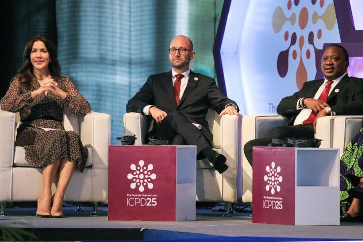 Dänemark, vertreten durch Kronprinzessin Mary (li.), ist mit dem Uno-Bevölkerungsfond Kenia Organisator des Gipfels
