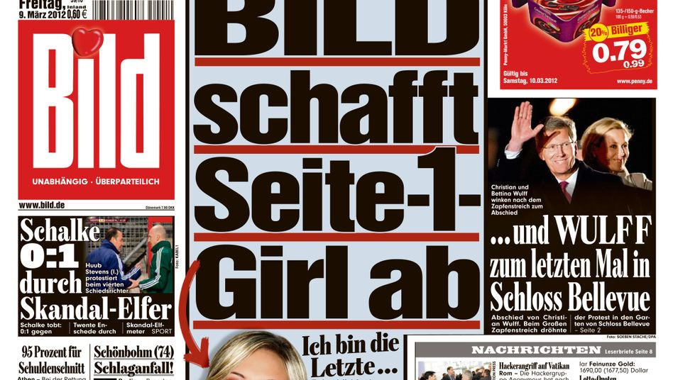 Germany's top-selling paper is getting rid of its page-one daily nude after 28 years.