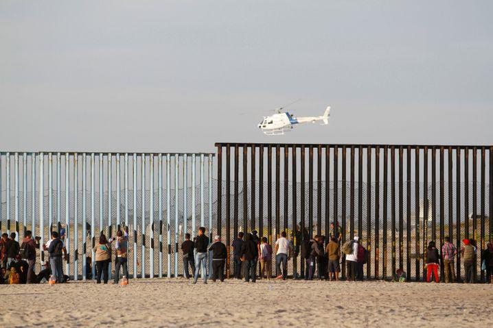 Grenzzaun bei Tijuana