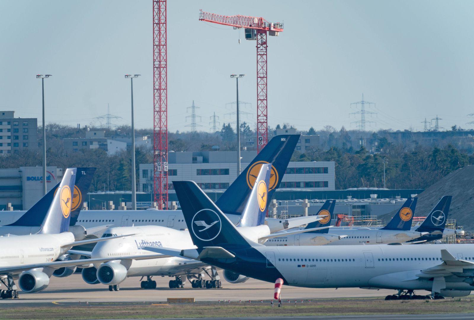Impressionen Flughafen Frankfurt Rhein-Main 15.03.2020, Flughafen Frankfurt Rhein-Main : Maschinen, Flugzeuge der Luftha