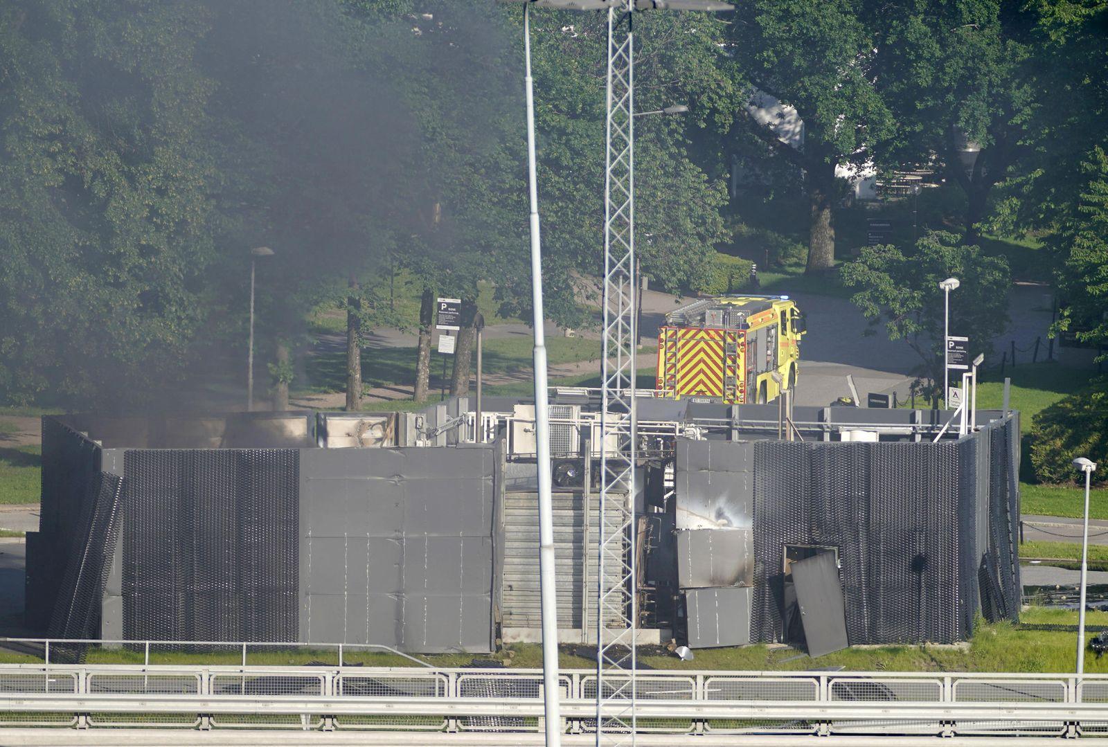 Norwegen / Explosion / hydrogen refueling station