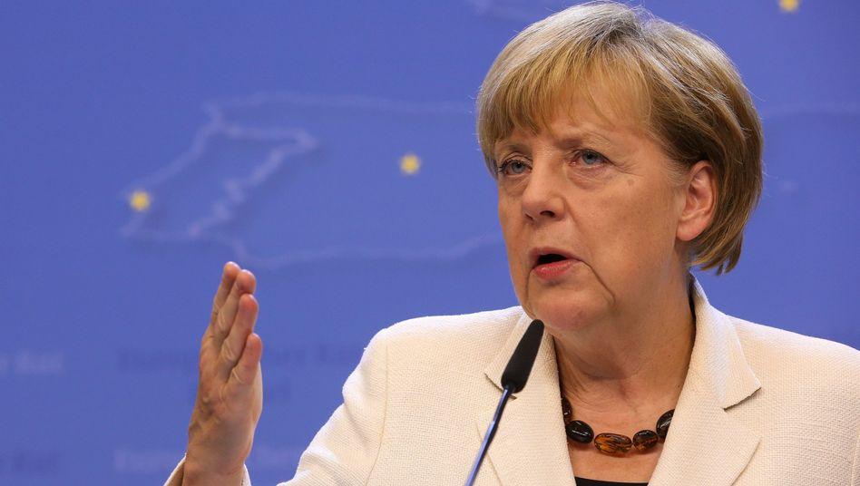 """Bundeskanzlerin Merkel in Brüssel: """"Deutschland wird keine Waffen liefern"""""""