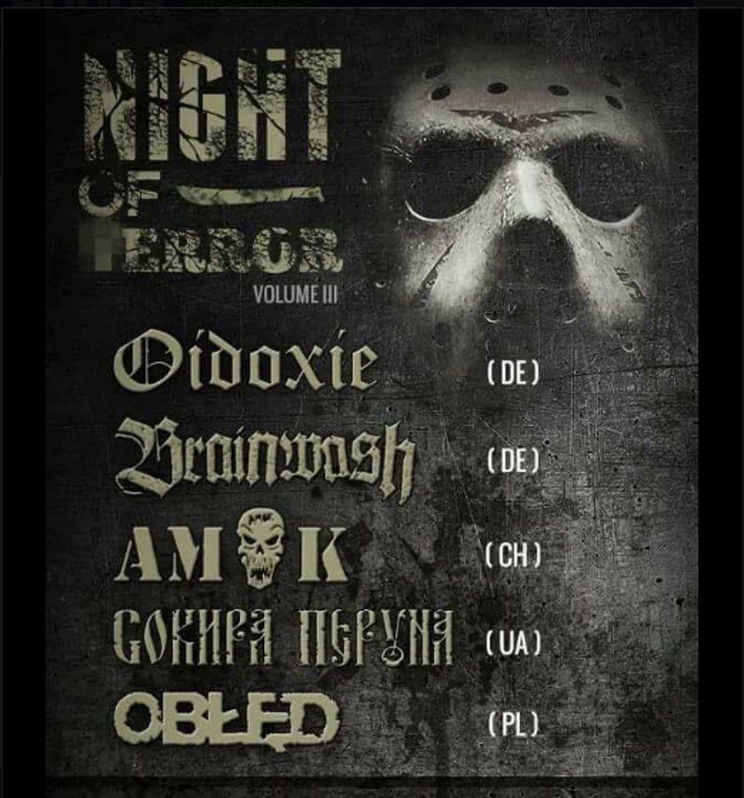 EINMALIGE VERWENDUNG Neo-Nazi / Night of Terror / konzert / Polen
