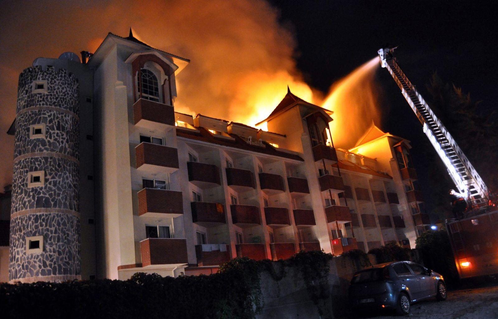 Hotelbrand in der Türkei