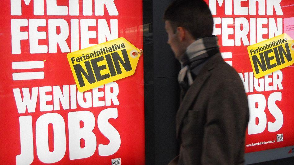 Gegenkampagne der Arbeitgeber: Wettbewerbsfähigkeit als Totschlagargument
