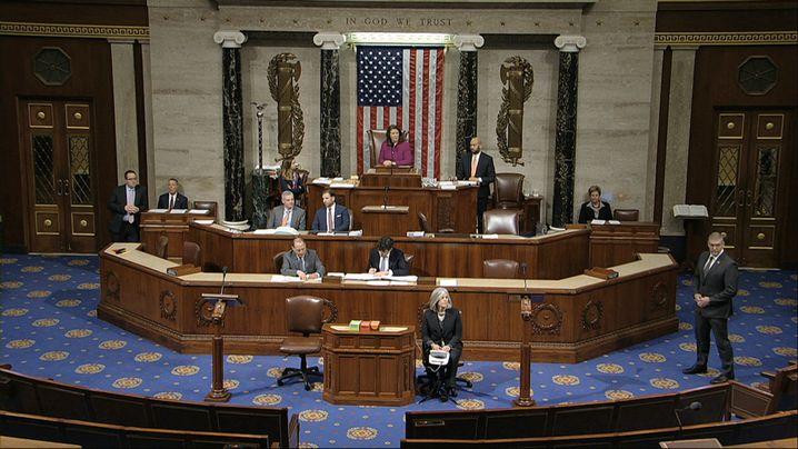 Zehnstündige Debatte: Plenum des US-Repräsentantenhauses