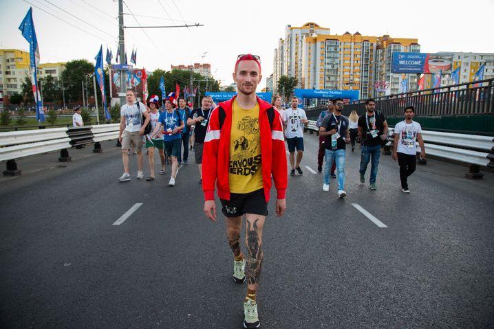 Anton auf Tour durch Saransk