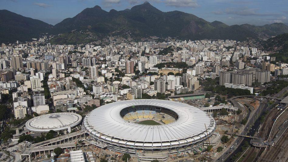Maracanã-Stadion in Rio de Janeiro: Bauschutt eine Gefahr bei Ausschreitungen