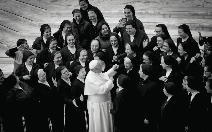 Pope Francis providing an audience to nuns at the Vatican on Jan. 15