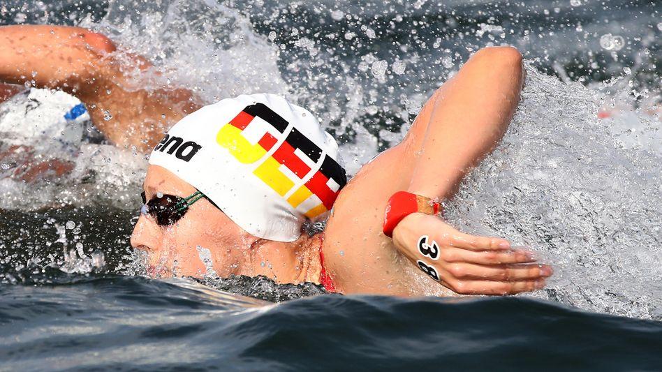 Die deutsche Schwimmerin Leonie Beck bei der WM im Expo Ocean Park in Yeosu: