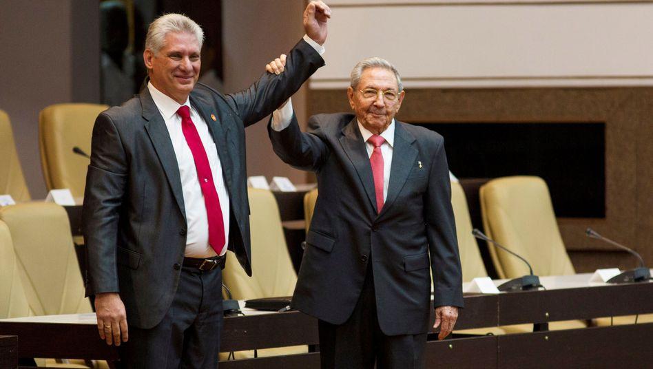 Miguel Díaz-Canel und Raúl Castro