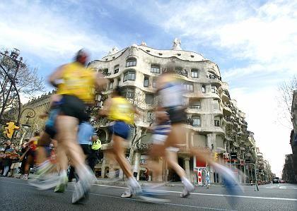 Marathon-Läufer (in Barcelona): Frisch bleiben sie auch