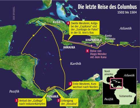 Columbus' letzte Reise: Verzweifelte Suche nach der Indien-Passage