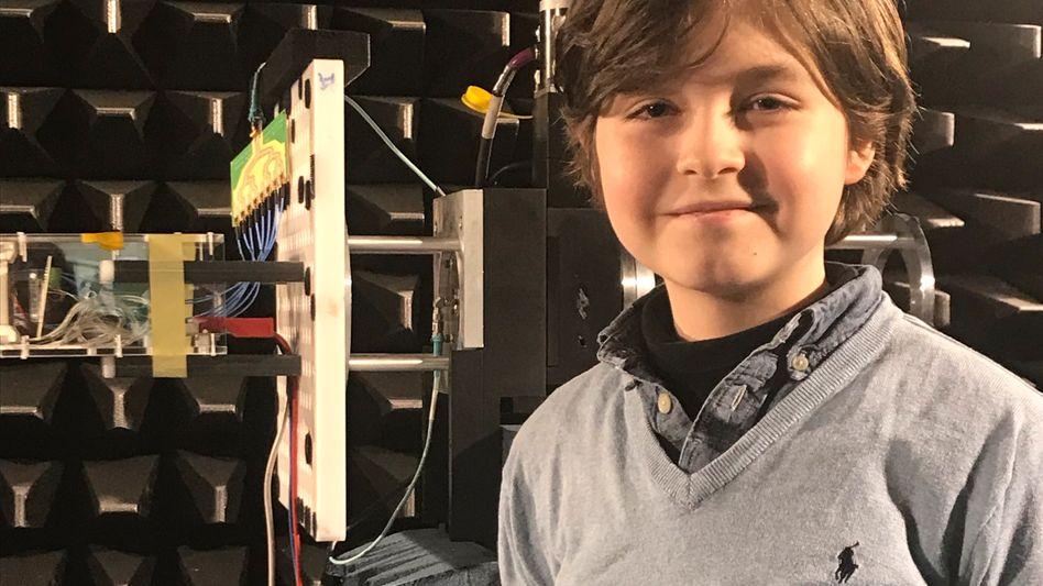 Turbo-Lerner: Laurent (9) aus Amsterdam steht kurz vor der Bachelor-Prüfung an der TU Eindhoven
