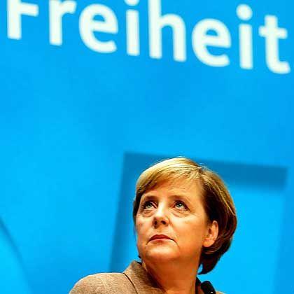 Kanzlerin Merkel: Die Führung der Welt mögen am Ende andere übernehmen - doch sie wird ihnen nicht willfährig angedient, nicht kampflos überlassen