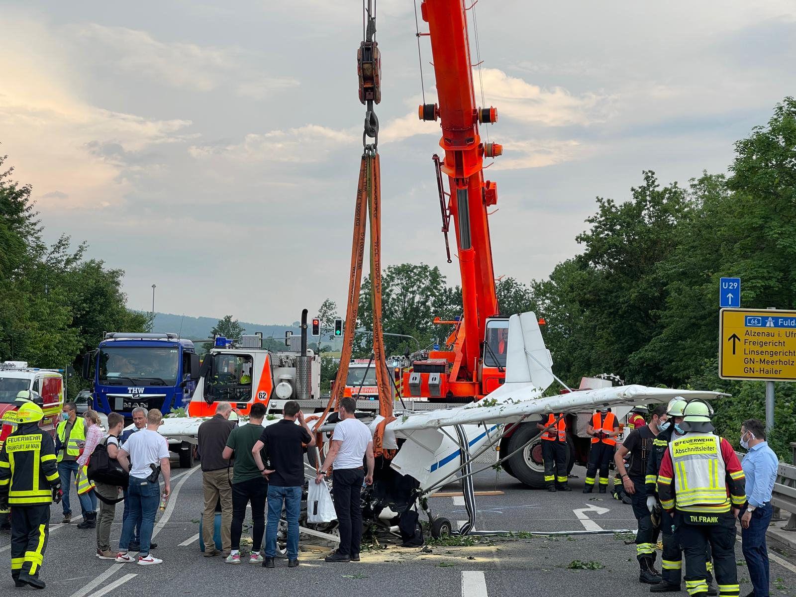 Zwei Tote bei Flugzeugabsturz in Hessen