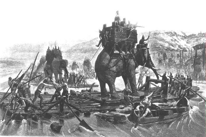 Hannibals Alpenüberquerung im Jahr 218 vor Christus: Mildes Hochgebirge
