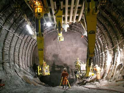 The new Gotthard railway tunnel in the Swiss Alps will be the longest in the world.