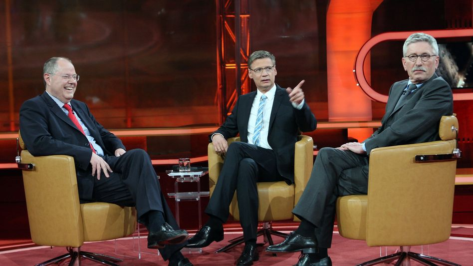 """Jauch mit Peer Steinbrück und Thilo Sarrazin: Die ARD unterstellt ihm """"Stimmungsmache"""""""