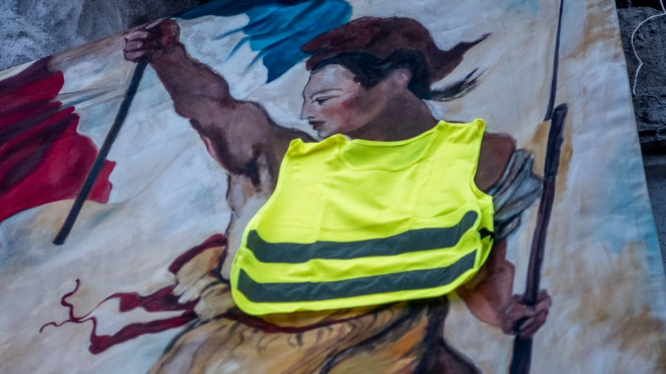 The yellow vests in France are eroding President Emannuel Macron's authority.