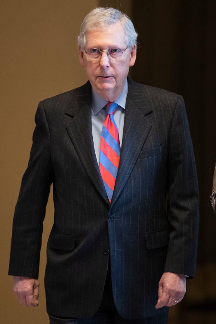 Der wichtigste Republikaner für Donald Trump im Senat: Mehrheitsführer Mitch McConell