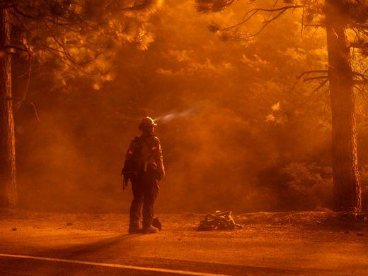 Ein Feuerwehrmann am 11. September in Kalifornien