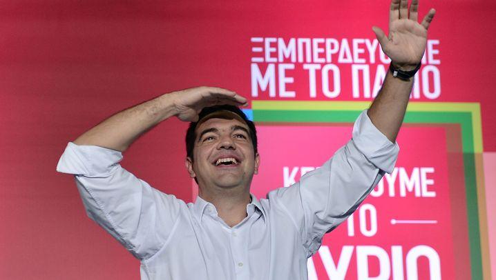 Fotostrecke: Das war der Wahlabend in Griechenland