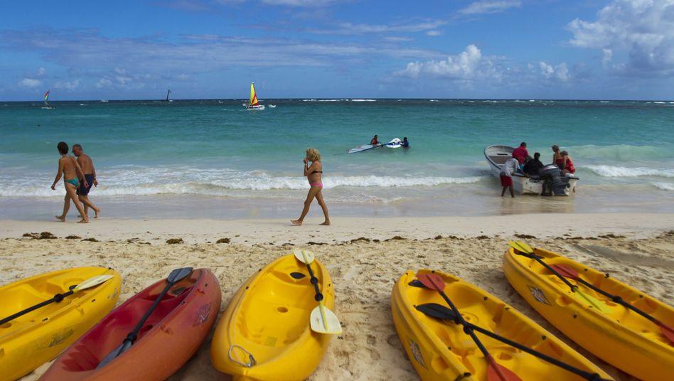 """Strand in der Dominikanischen Republik: Ganz weit vorn beim """"Happy Planet Index"""""""