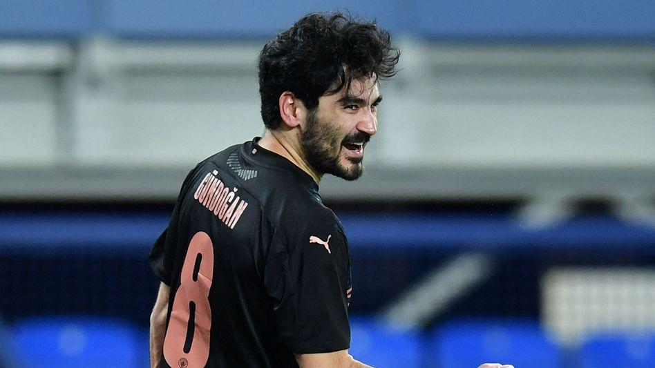 Ilkay Gündoğan traf auch im Pokal bei Everton