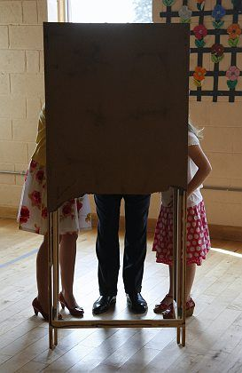 Voters in Ireland, among the minority in Europe who cast their ballots.