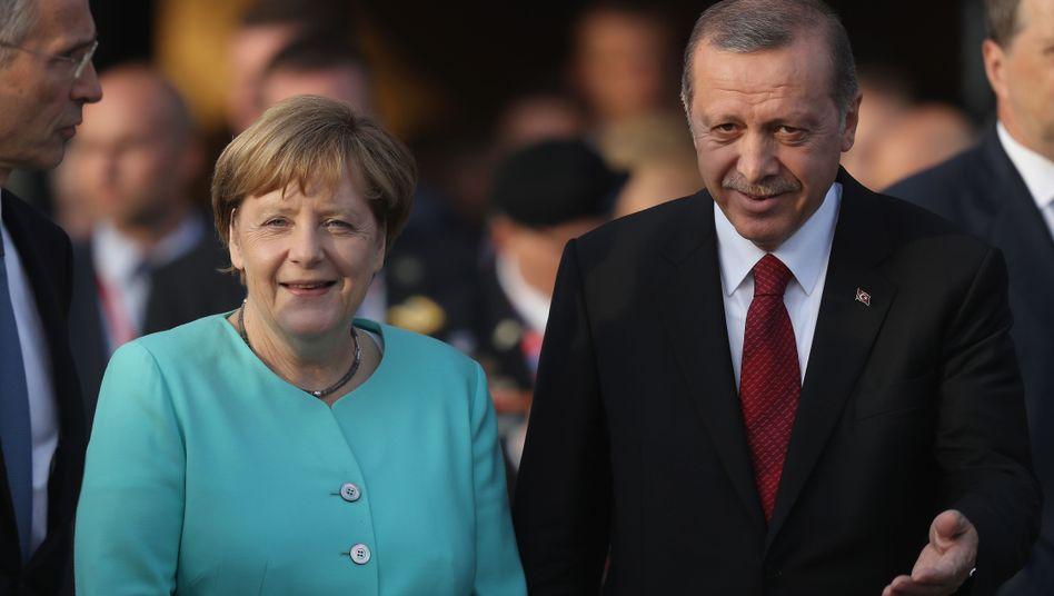 Bundeskanzlerin Merkel, Präsident Erdogan (Archivbild)