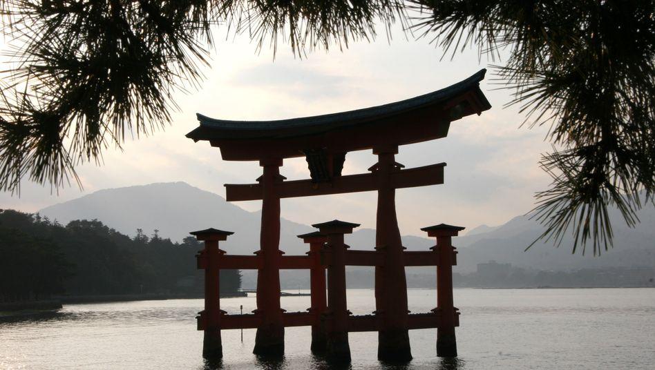 Touristenattraktion Itsukushima-Schrein: Die Besucherzahl ging in Japan stark zurück