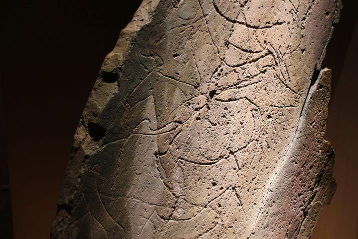 Petroglyphen im Côa-Tal: Erst im Taschenlampenlicht erkennbar