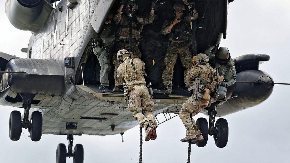 KSK-Elitesoldaten bei einer Übung