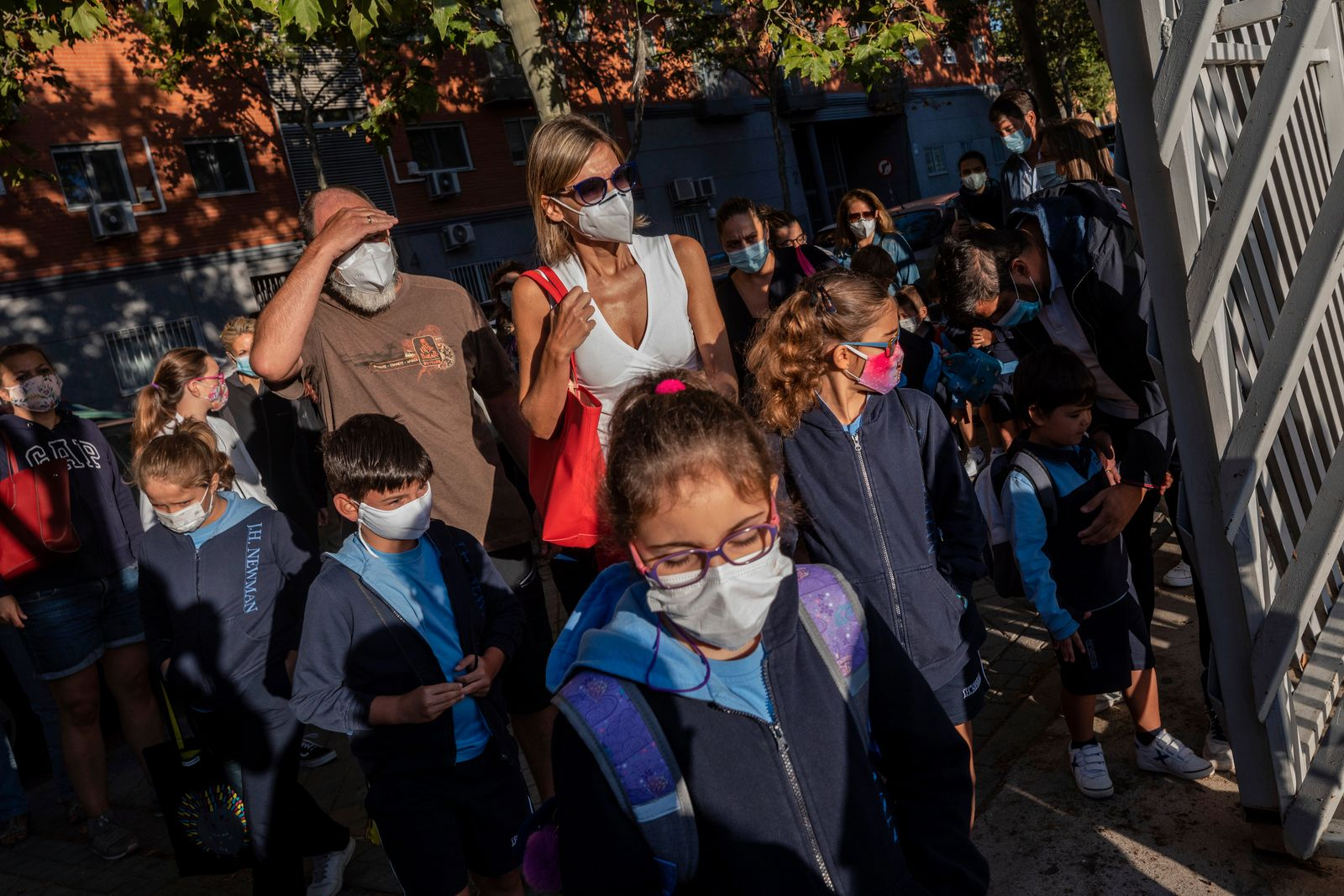 Virus Outbreak Spain Schools