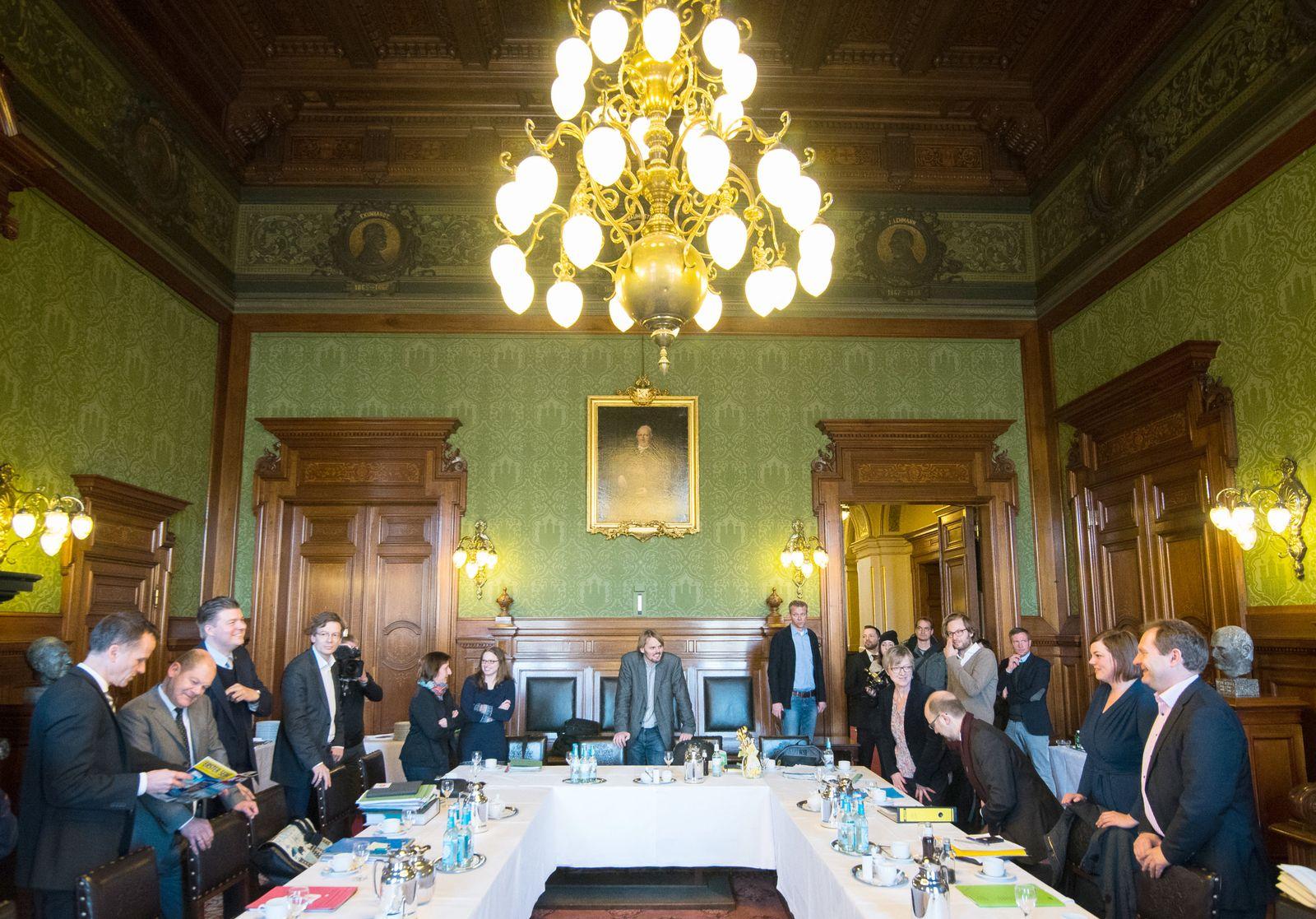 Fortsetzung der Hamburger Koalitionsverhandlungen